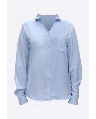 Stylist in Pocket Ladies Collared Workshirt  SIPUT-015H9