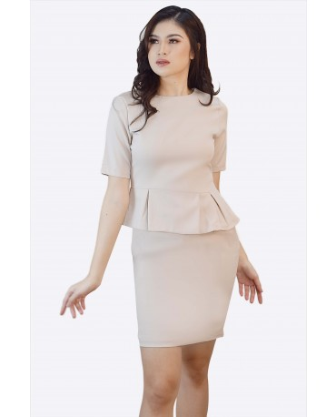 Ensembles Peplum Waist Dress ENSDW-010K9