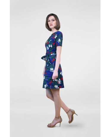 Freeway Round Neck Floral Dress FWYDC-020L9