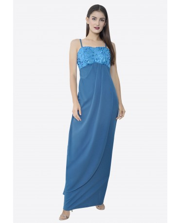 22BC Spaghetti Strap Empire Long Dress BC18033