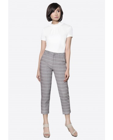 Ensembles Ariana Checkered Trouser Pants ENSBW-001A9