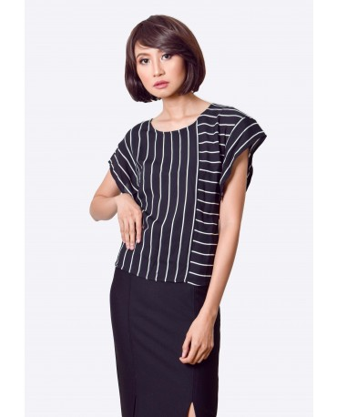 Freeway Stripes Blouse FWYTC-026G9