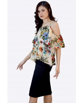 Ensembles  Cold Shoulder Top ENSTW-006K9
