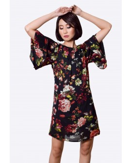 Freeway Pleated Sleeve Dress  FWYDC-010G9