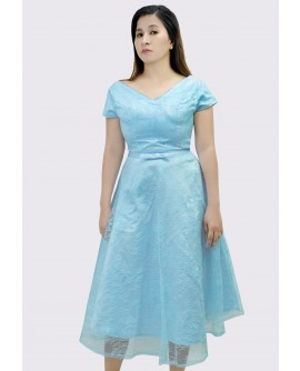 22BC Short Sleeved Tea Length Dress BC18009