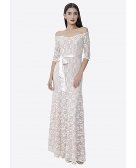 22BC Off Shoulder Long Dress BC18026