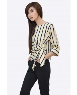 Ensembles Stripes Tie Waist Top ENSTW-004G9