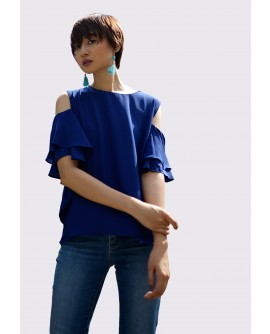 Freeway Jilly Cold Shoulder Blouse FWYTC-058J10