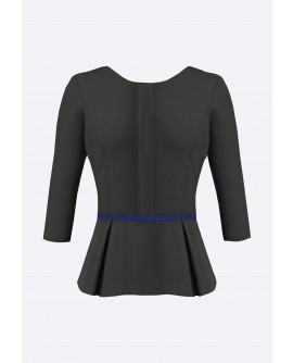 Stylist in Pocket Ladies Peplum Blouse SIPUT-034K9
