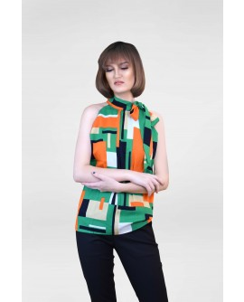 Freeway Sleeveless Tie - Neck Top FWYTC-018L9
