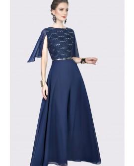 22BC Lace Top A-line Long Dress BC18050