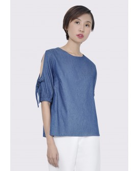 Freeway Kandy Chambray Blouse FWYTC-063K8